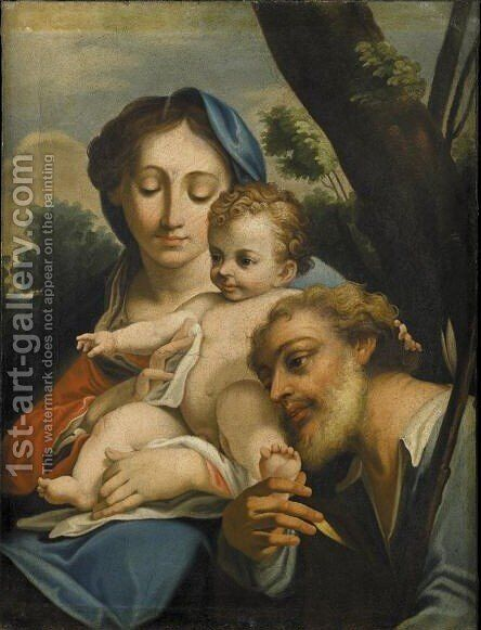 Sacra Famiglia by (after) Carlo Maratta Or Maratti - Reproduction Oil Painting