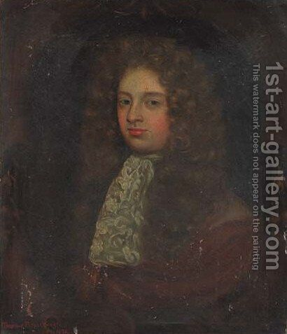 Portrait of Thomas Branthwayt (d.1676) by (after) Charles Beale - Reproduction Oil Painting