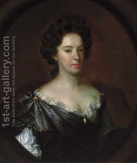 Portrait of a lady, by (after) Charles Beale - Reproduction Oil Painting