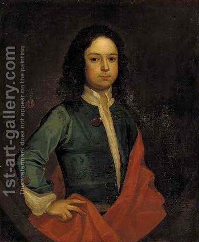 Portrait of a boy 2 by (after) Charles D' Agar - Reproduction Oil Painting