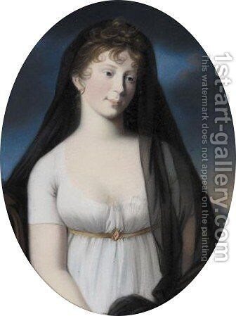 Portrait Of Luise Queen Of Prussia (1776-1810) by (after) Christoph Schwartz Or Schwarz - Reproduction Oil Painting