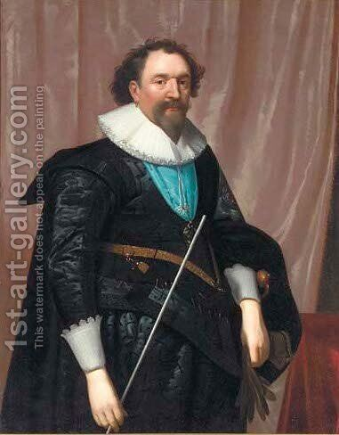 Portrait of William, 3rd Earl of Pembroke (1580-1630) by (after) Daniel Mytens - Reproduction Oil Painting