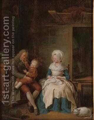Family time by (after) Ean-Baptiste-Simeon Chardin - Reproduction Oil Painting