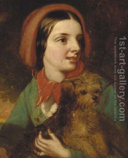 A canine companion by (after) Edward John Cobbett - Reproduction Oil Painting