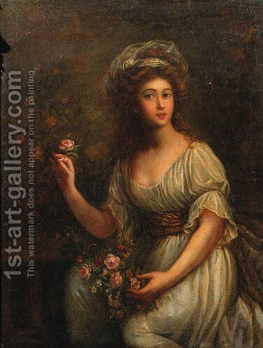 Portrait of a noblewoman by (after) Elisabeth Vigee-Lebrun - Reproduction Oil Painting