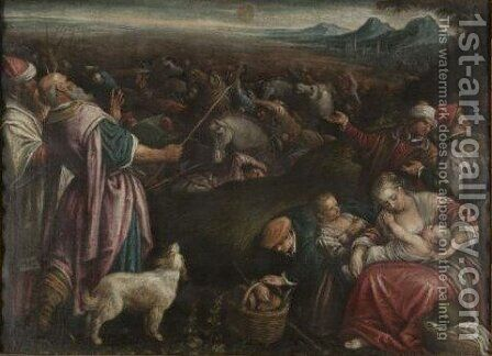 The Crossing Of The Red Sea by (after) Francesco Da Ponte, Called Francesco Bassano - Reproduction Oil Painting