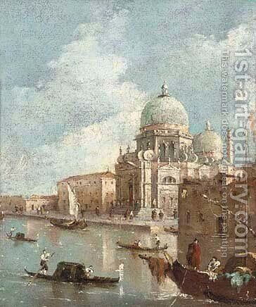 Santa Maria della Salute, Venice 2 by (after) Francesco Guardi - Reproduction Oil Painting