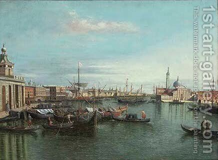 A busy day on the Grand Canal, Venice by (after) Francesco Guardi - Reproduction Oil Painting