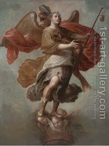 The Archangel Michael by (after) Francisco Menseses Osorio - Reproduction Oil Painting
