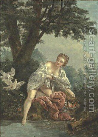 Venus In A Grotto by (after) Francois Boucher - Reproduction Oil Painting