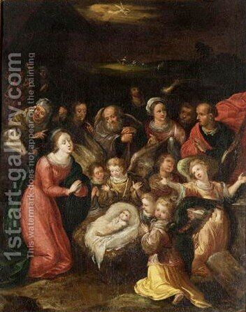 The Adoration Of The Magi 6 by (after) Frans II Francken - Reproduction Oil Painting