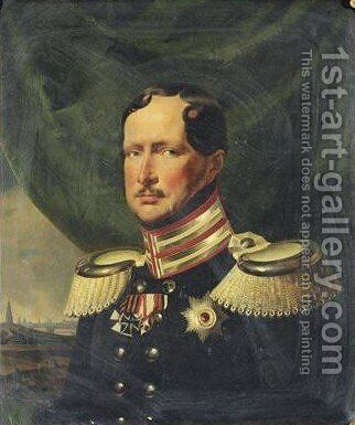 Portrait Of Friedrich III King Of Prussia (1770-1840) by (after) Franz Kruger - Reproduction Oil Painting