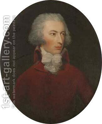 Portrait of Abel Chapman Esq by (after) Gainsborough Dupont - Reproduction Oil Painting