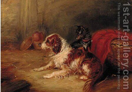 A terrier by (after) George Armfield - Reproduction Oil Painting