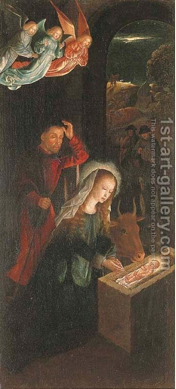The Nativity by (after) Gerard David - Reproduction Oil Painting