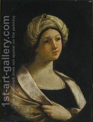 A Sybil by (after) Giovanni Andrea Sirani - Reproduction Oil Painting