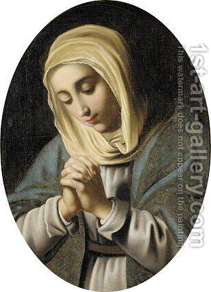 The Madonna At Prayer 2 by (after) Giovanni Battista Salvi, Il Sassoferrato - Reproduction Oil Painting