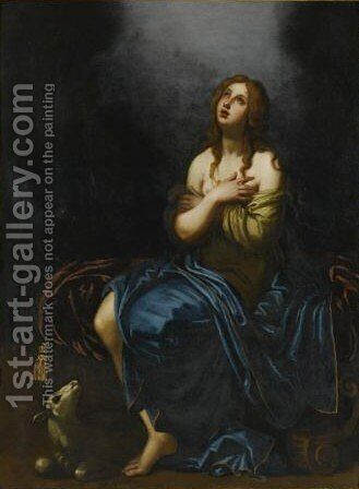 Saint Agnes by (after) Giovanni Bilivert - Reproduction Oil Painting