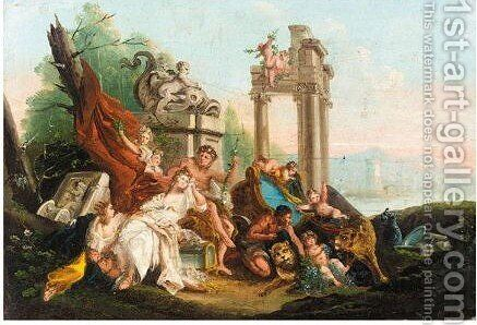 Bacchus And Ariadne by (after) Giuseppe Bernardino Bison - Reproduction Oil Painting