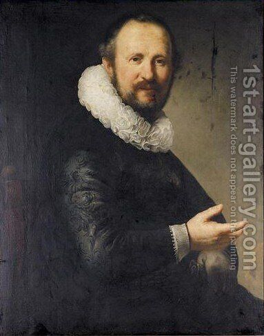 Portrait Of A Man by (after) Harmenszoon Van Rijn Rembrandt - Reproduction Oil Painting