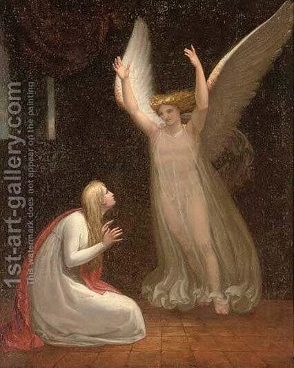 A divine apparition by (after) Henry Fuselli - Reproduction Oil Painting
