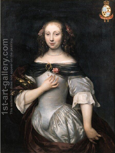 Portrait of a noblewoman by (after) Jacob Van Loo - Reproduction Oil Painting