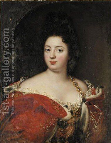 Portrait of Sophie Charlotte Von Preussen (1668-1705) by (after) Jacques Vaillant - Reproduction Oil Painting