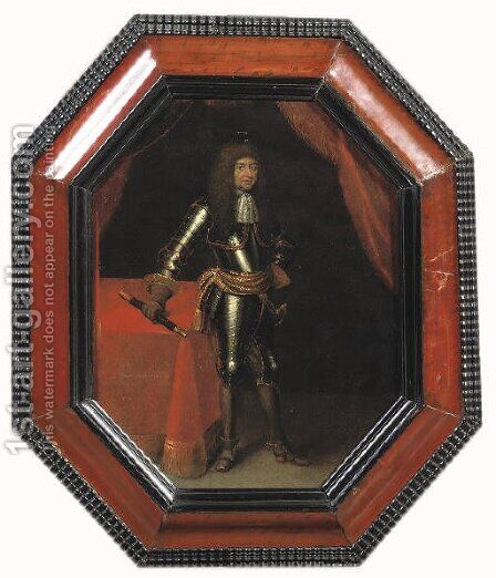 Portrait of a Nobleman, said to be Ernst August, Herzog von Braunschweig by (after) Jacques Vaillant - Reproduction Oil Painting