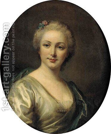 Portrait of a lady said to be Antoinette Rioult d'Quilly by (after) Jean-Marc Nattier - Reproduction Oil Painting