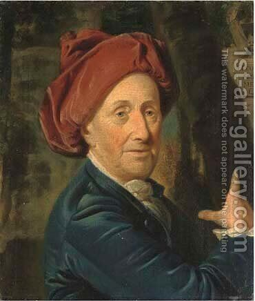 Portrait of John Grubb of Horsenden House, Buckinghamshire, aged 84 by (after) Johann Zoffany - Reproduction Oil Painting