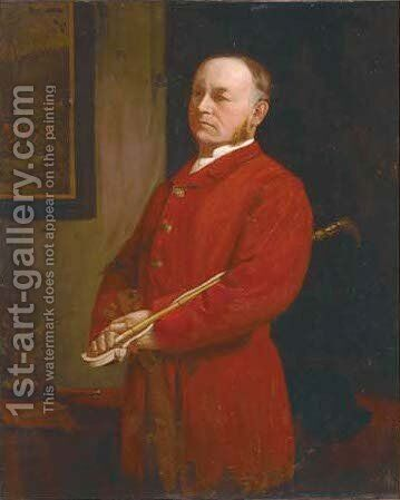 Portrait of Charles F. Leney by (after) John Seymour Lucas - Reproduction Oil Painting