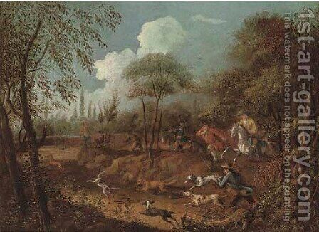 A break in the woods by (after) John Wootton - Reproduction Oil Painting