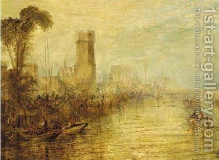 Cologne by (after) Joseph Mallord William Turner - Reproduction Oil Painting