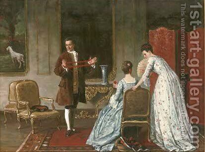 In the drawing room by (after) Ladislaus Bakalowicz - Reproduction Oil Painting