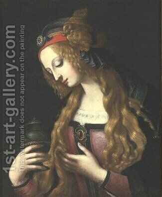 The Penitent Magdalene by (after) Leonardo Da Vinci - Reproduction Oil Painting