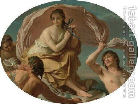 Galatea Frolicking In The Water With The Tritons by (after) Louis Lagrenee - Reproduction Oil Painting