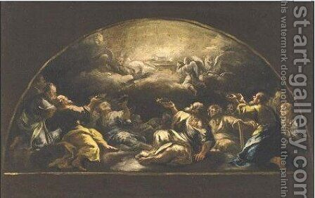 A Scene From The Adoration Of The Lamb by (after) Luca Giordano - Reproduction Oil Painting