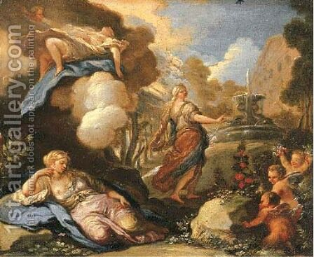 Psyche approaching the palace of Cupid by (after) Luca Giordano - Reproduction Oil Painting