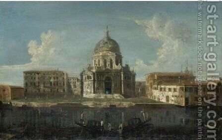 Venice, A View Of The Church Of Santa Maria Della Salute by (after) Michele Marieschi - Reproduction Oil Painting