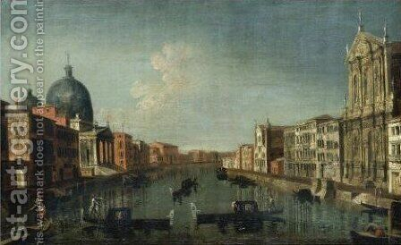Venice, A View Of The Grand Canal With The Chiesa Degli Scalzi by (after) Michele Marieschi - Reproduction Oil Painting