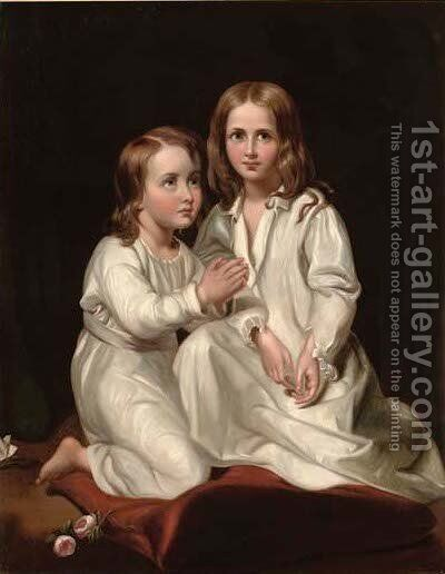 The two princes by (after) Paul Delaroche - Reproduction Oil Painting