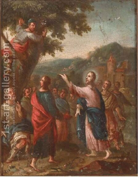 Christ and the Fig Tree by (after) Paul Troger - Reproduction Oil Painting