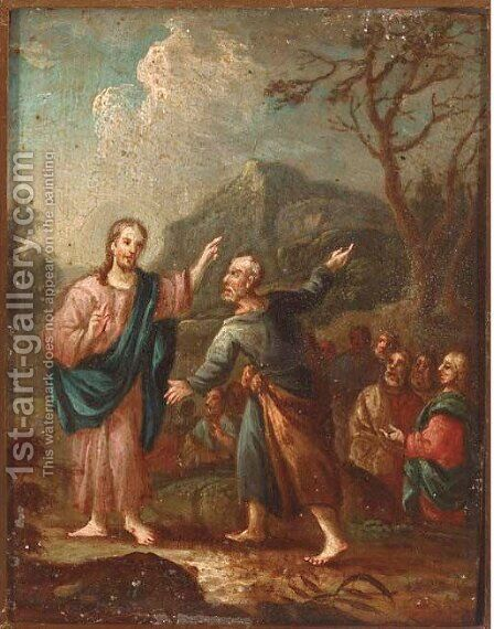 Christ and Zaccarius by (after) Paul Troger - Reproduction Oil Painting