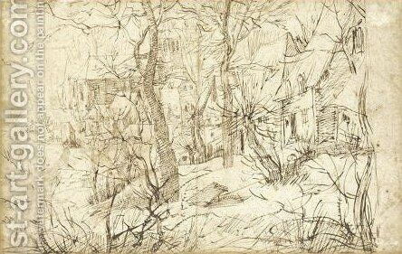 Winter Landscape 2 by (after) Pieter The Elder Bruegel - Reproduction Oil Painting
