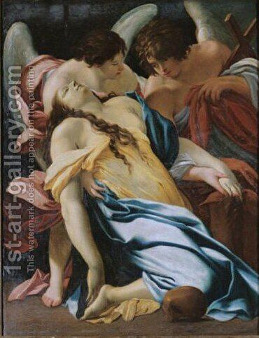 The Ecstasy Of The Magdalene by (after) Simon Vouet - Reproduction Oil Painting