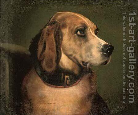 A faithful St. Bernard by (after) Sir Edwin Henry Landseer - Reproduction Oil Painting