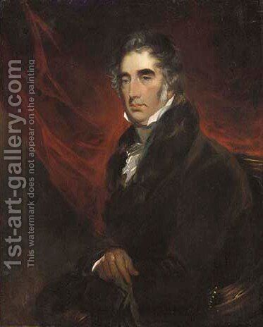 Portrait of Sir William Milner Bt. by (after) Sir Francis Grant - Reproduction Oil Painting