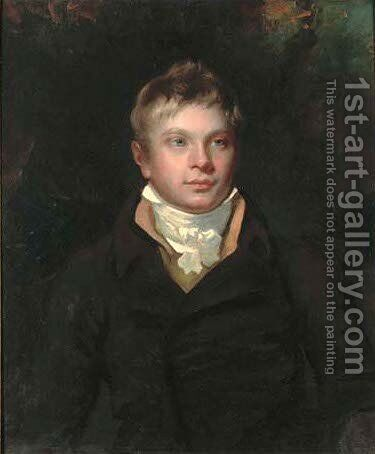 Portrait of a boy, traditionally identified as Sir Walter Scott by (after) Sir Henry Raeburn - Reproduction Oil Painting