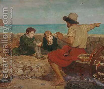 The boyhood of Raleigh by (after) Sir John Everett Millais - Reproduction Oil Painting