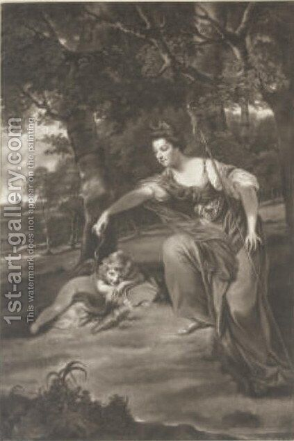 Diana and Cupid by (after) Sir Joshua Reynolds - Reproduction Oil Painting